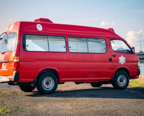 A 1991 Toyota Hiace 4x4 ambulance