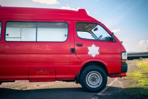 This is a 1992 Toyota 4x4 Hiace Ambulance